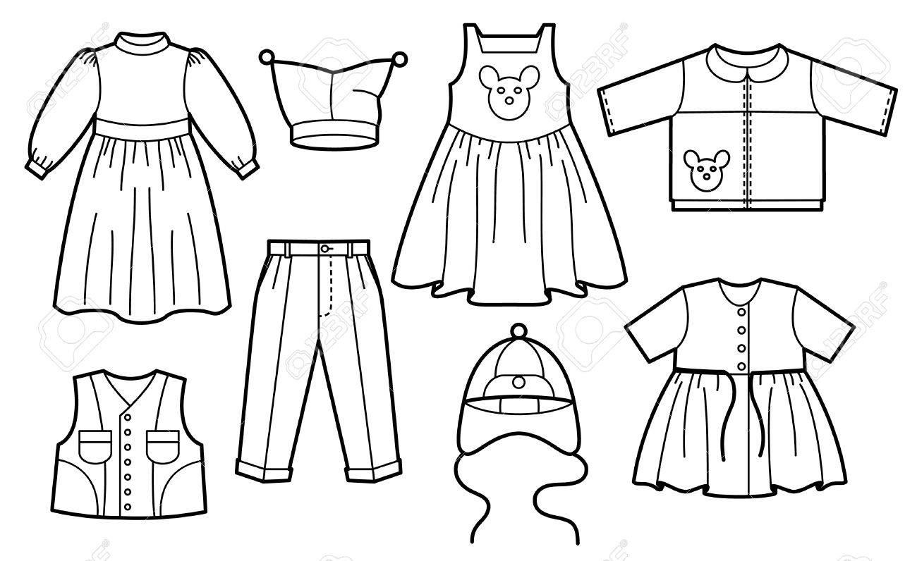 Kinderkleidung clipart  Silhouette Der Kinderkleidung Lizenzfrei Nutzbare Vektorgrafiken ...