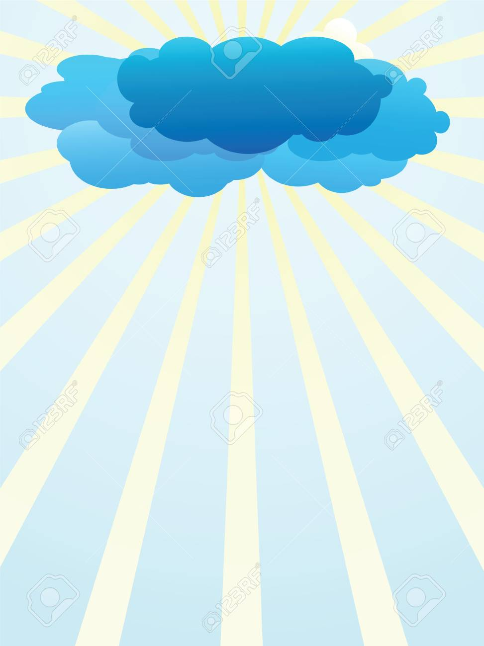 The background of a storm clounds Stock Vector - 10436366
