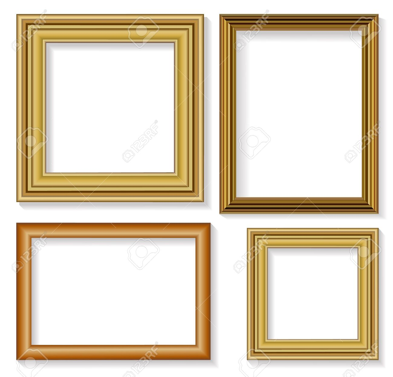 The Four Frames For Picture Royalty Free Cliparts, Vectors, And ...