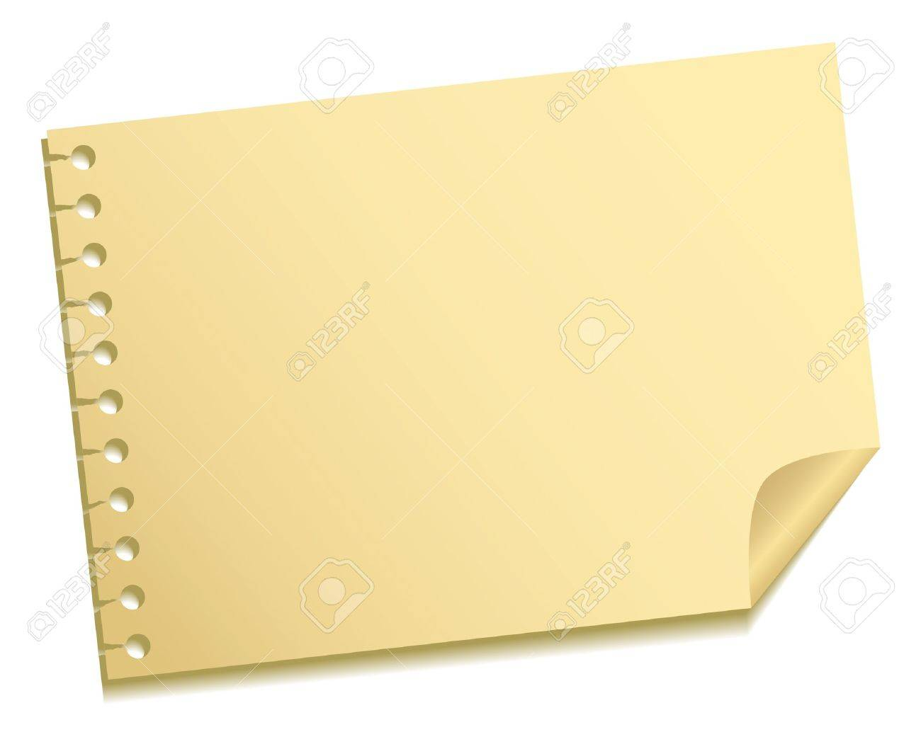 The sheet of a note Stock Vector - 10436500