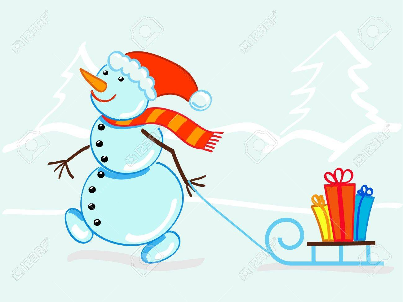 Snowman Stock Vector - 10436427