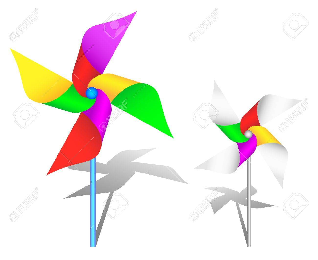 The colorful pinwheel toy Stock Vector - 10436342