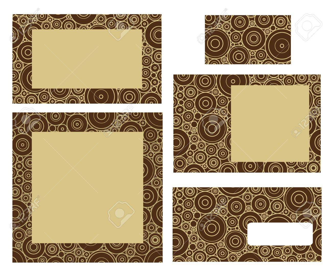 template for business envelope business card and invitation