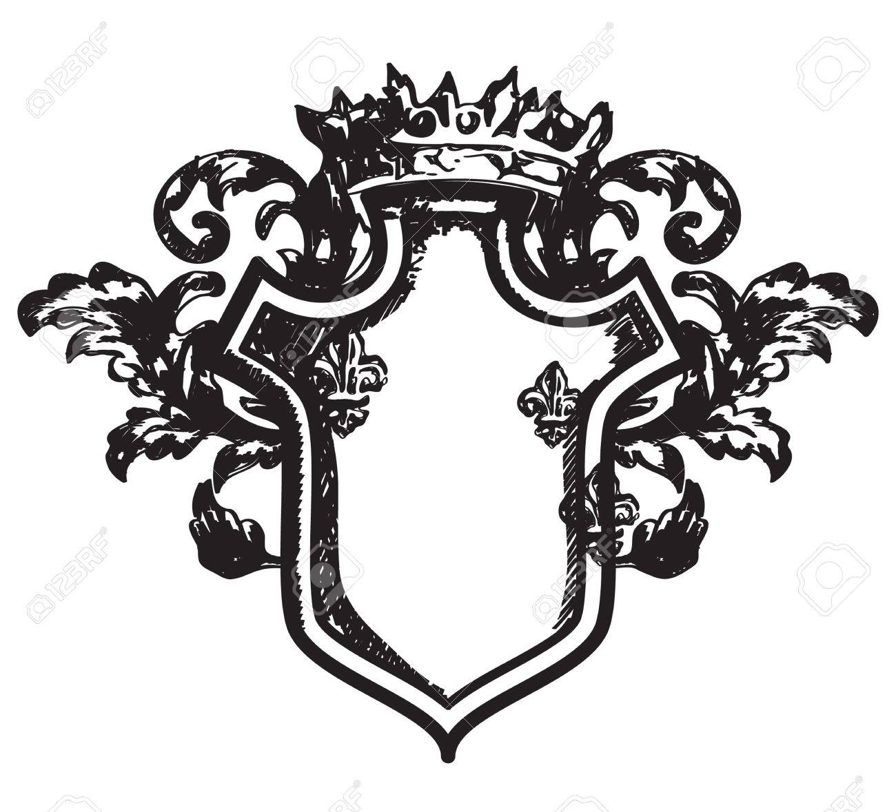 Drawing heraldic coat of arms Stock Vector - 15714774