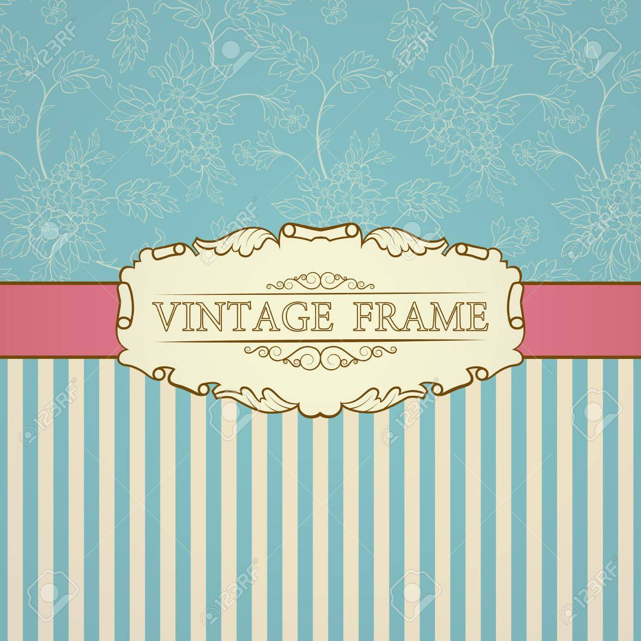 Retro background with vintage frame and place for your text Stock Vector - 16028366