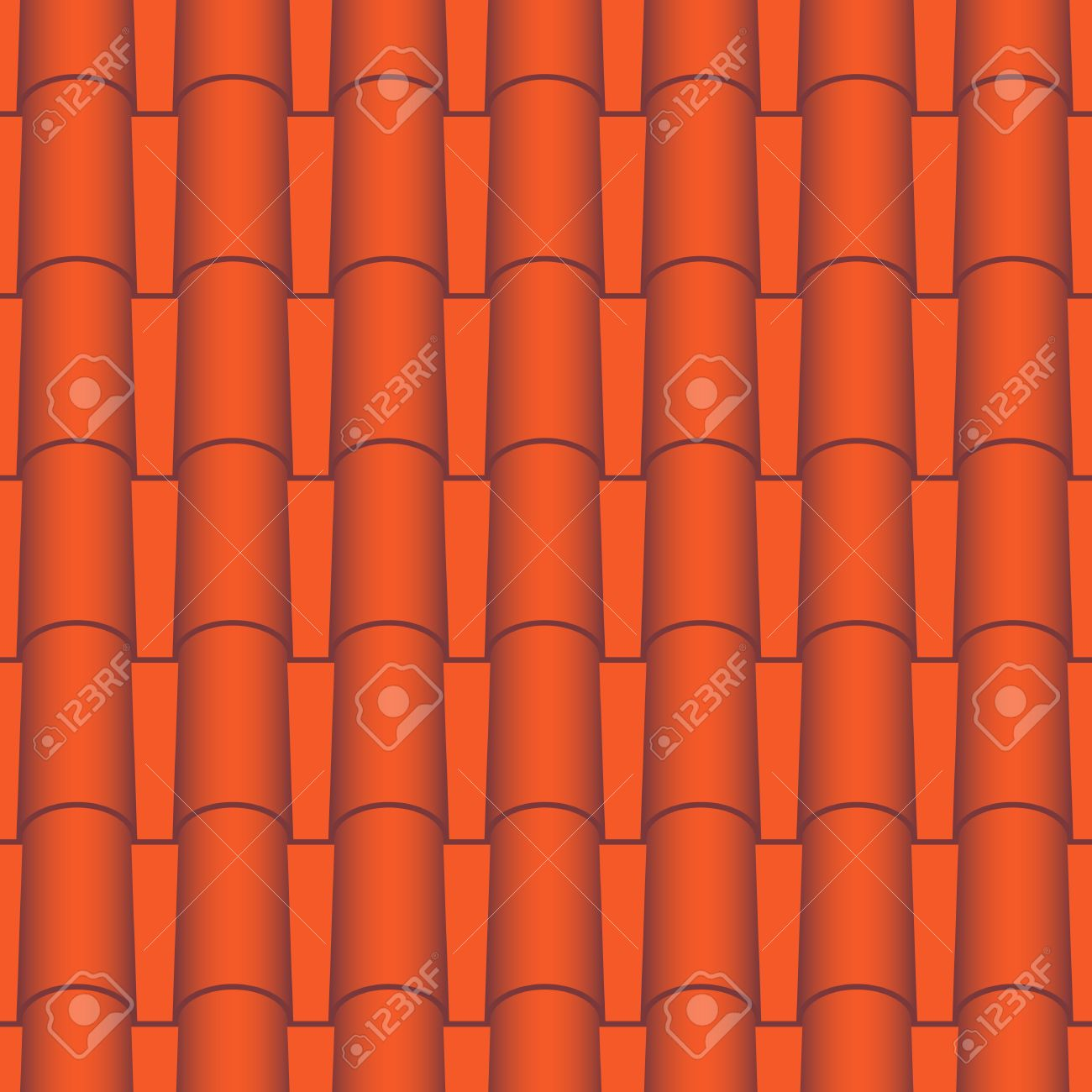 Red roof tiles seamless Vector texture Stock Vector - 18393100  sc 1 st  123RF Stock Photos & Red Roof Tiles Seamless Vector Texture Royalty Free Cliparts ... memphite.com