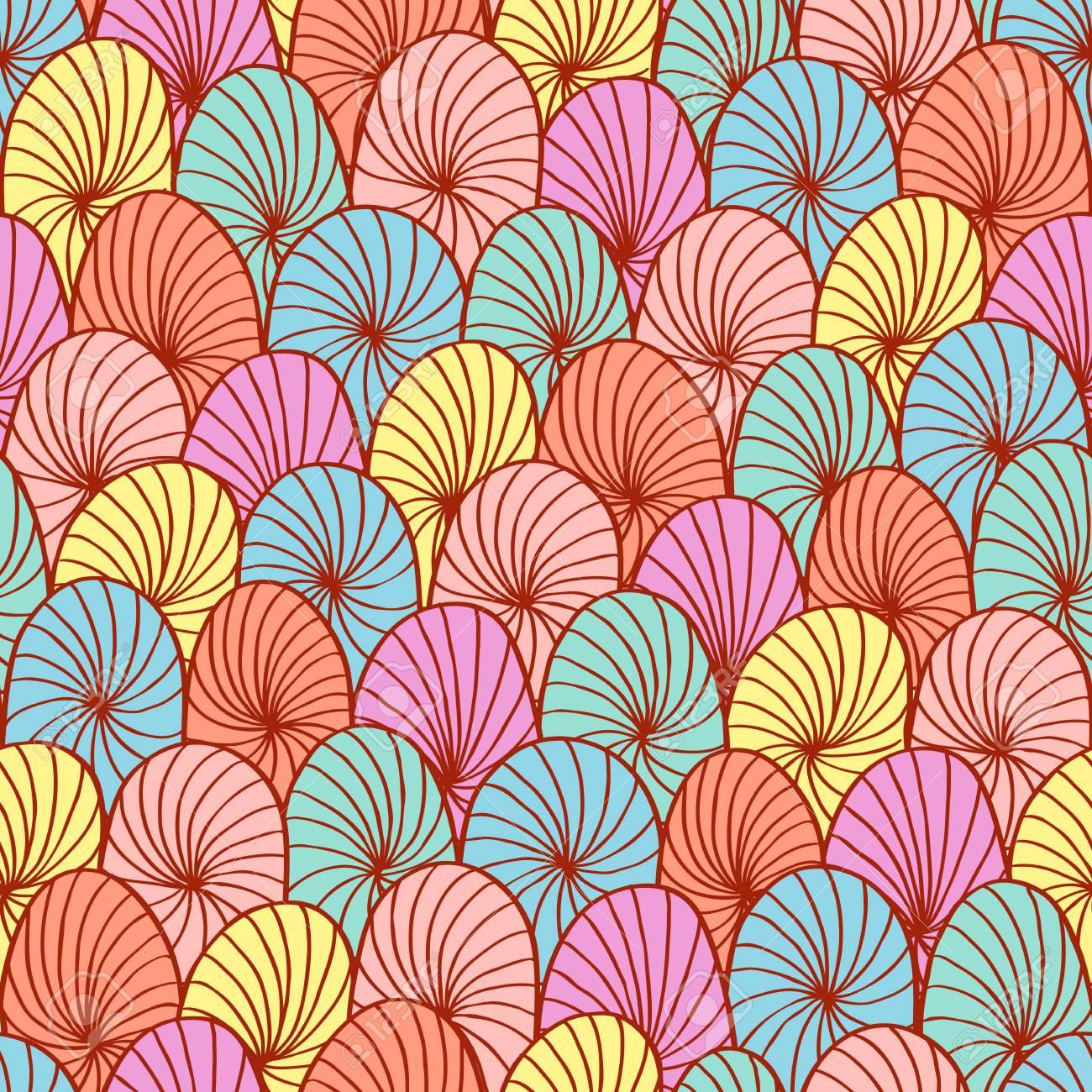 Abstract hand drawn circle seamless Stock Vector - 19267161