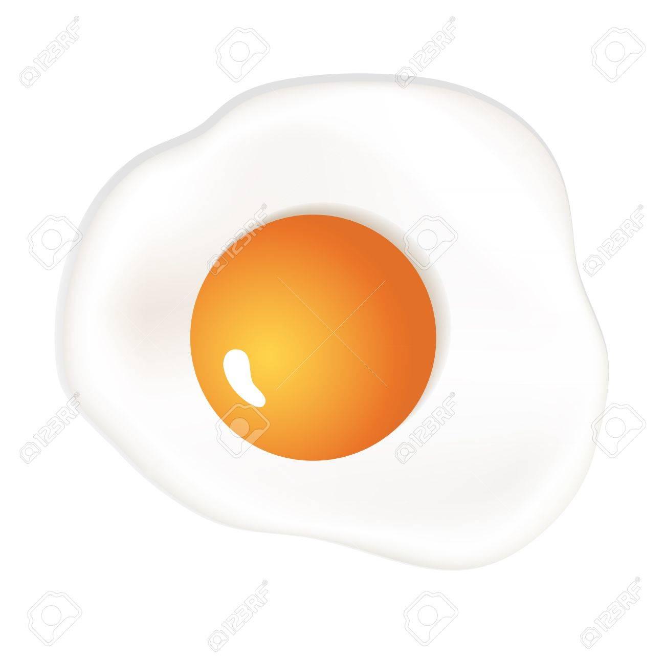 Scrambled egg isolated on white - 21529186