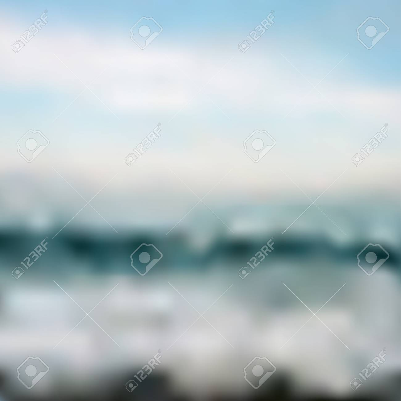 Ocean Waves And Blue Sky Vector Abstract Background Mesh Tool