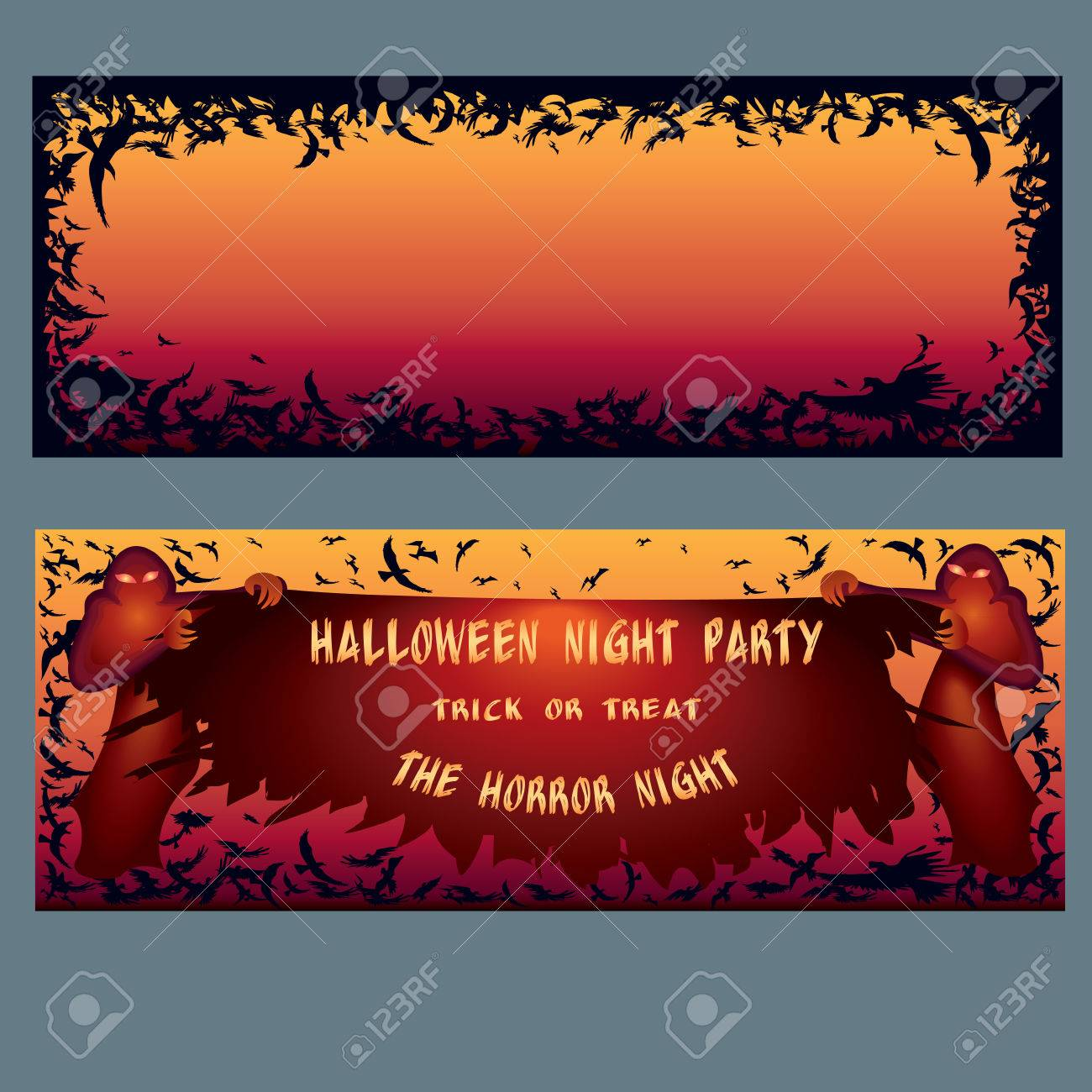 Halloween Invitation. Pattern For Web Page Backgrounds, Postcards ...