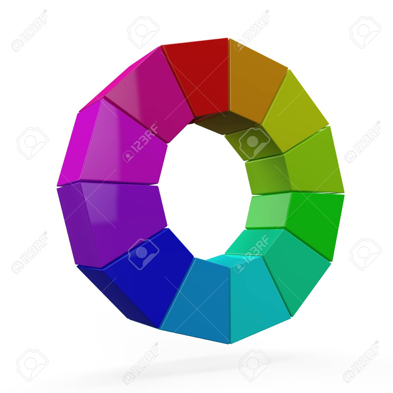 3D color wheel Stock Photo 17907199