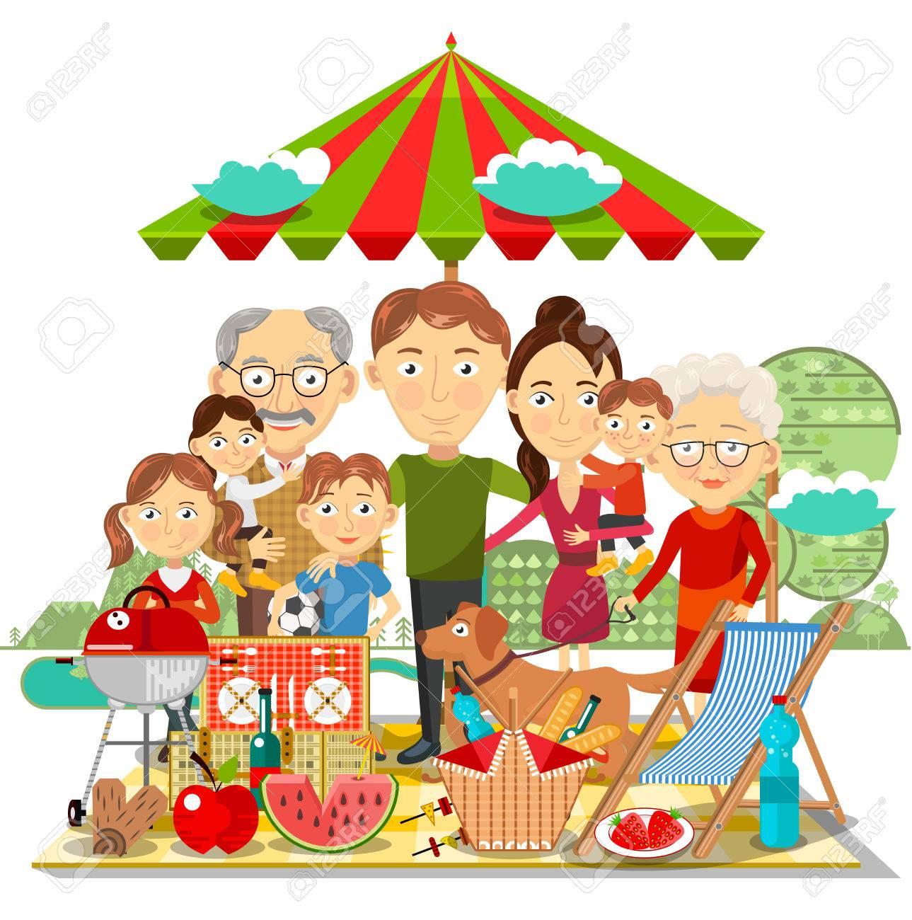 Picnic family - 58039735