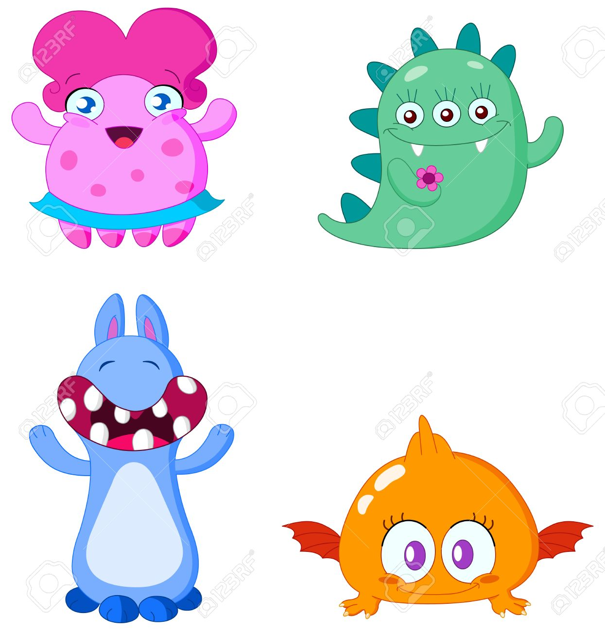 Cute little monsters Stock Vector - 6653057