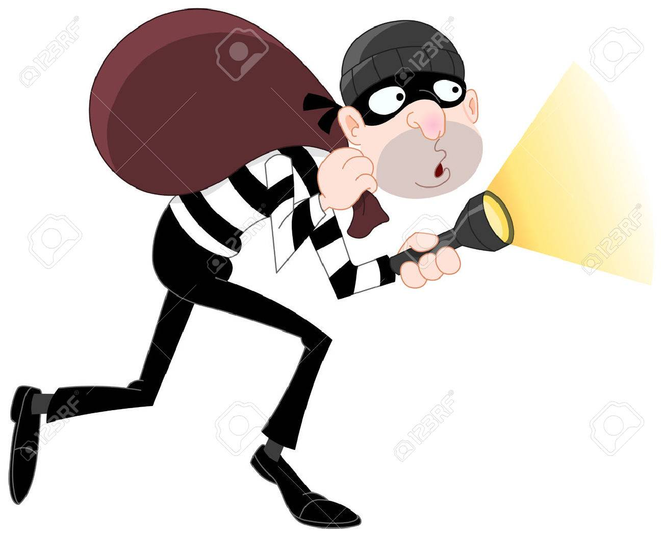 Sneaking thief Stock Vector - 6653039