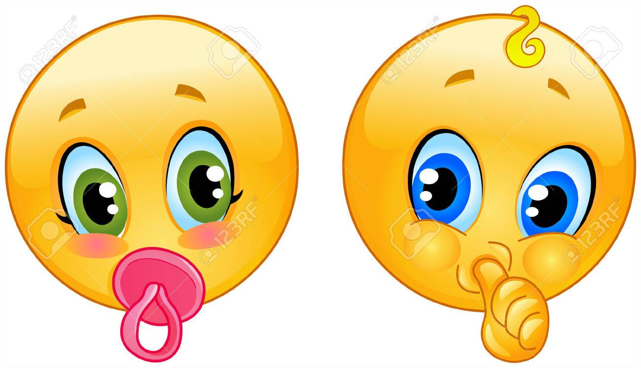 Adorable Baby Emoticons Royalty Free Cliparts, Vectors, And Stock ...