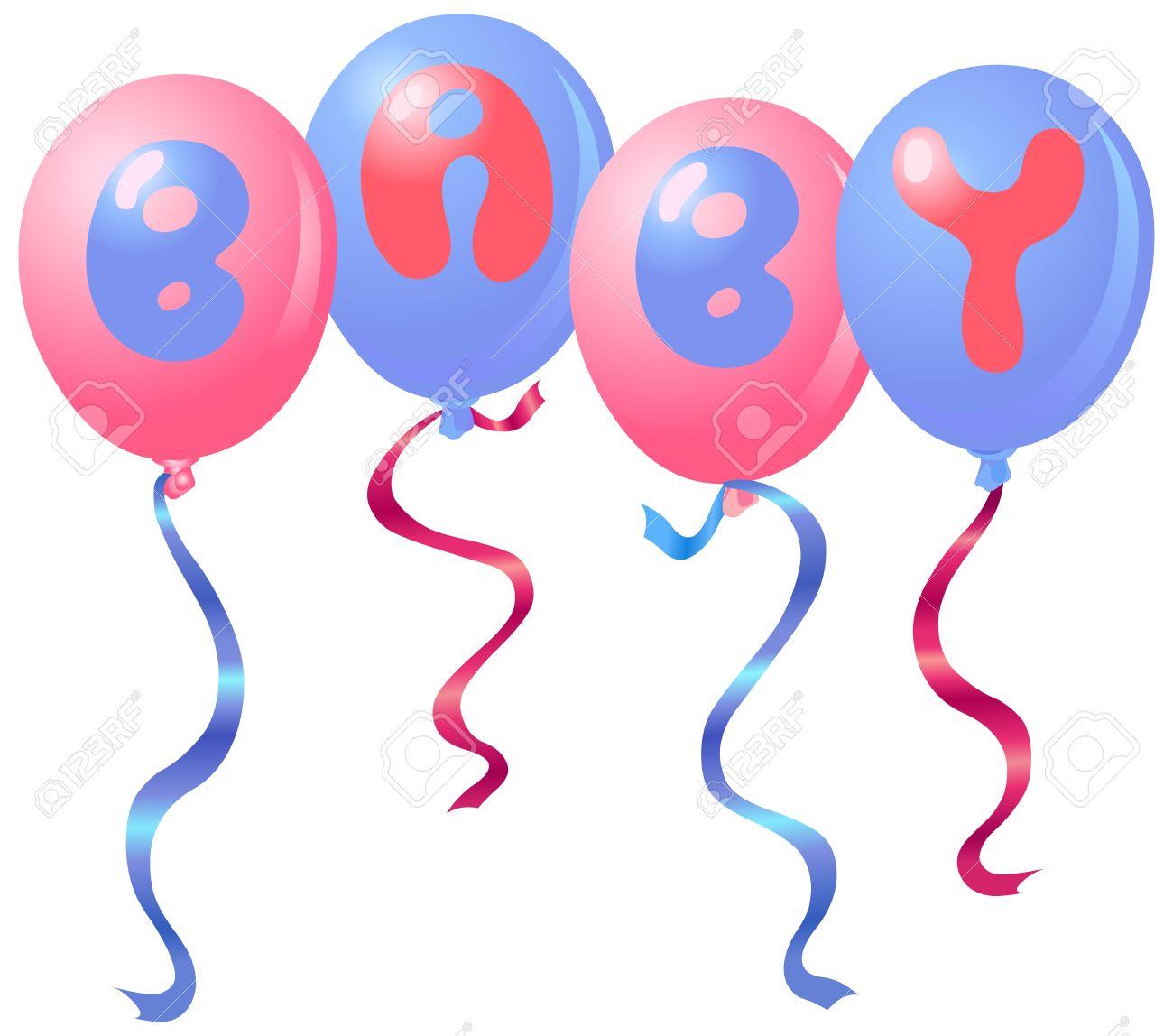 Baby balloons Stock Vector - 7340049