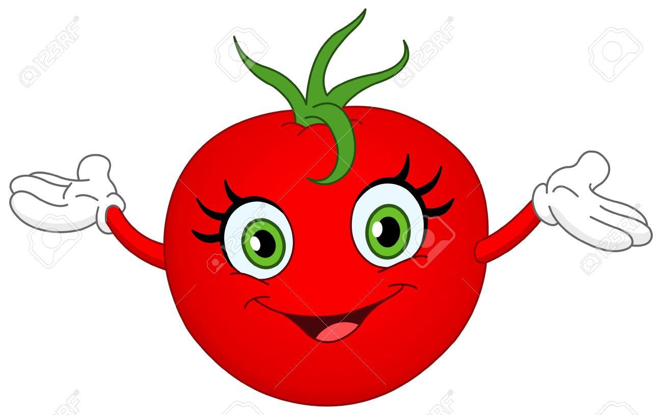 cheerful cartoon tomato raising her hands royalty free cliparts rh 123rf com tomato clip art free download tomato clip art free download