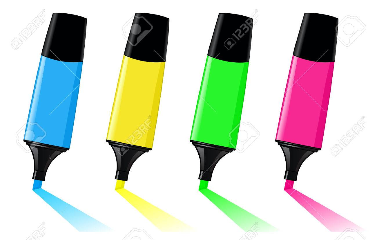 Colorful highlighters Stock Vector - 7390572