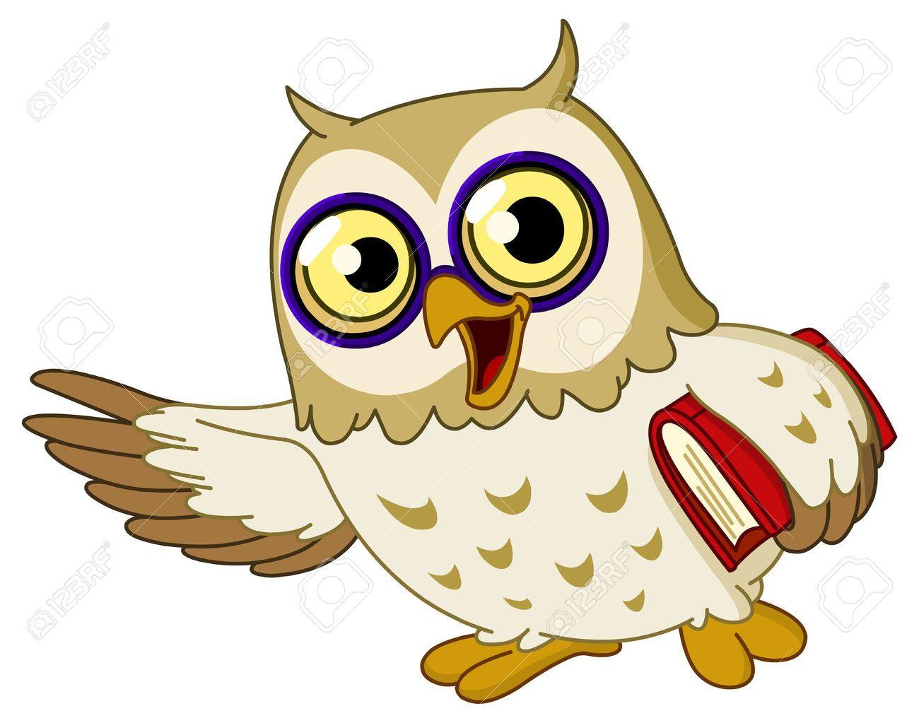 cartoon wise owl teaching royalty free cliparts vectors and stock rh 123rf com Owl Sayings for Teachers Owl School Clip Art