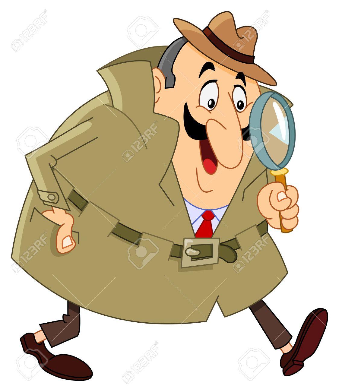 Cartoon detective Stock Vector - 7699419