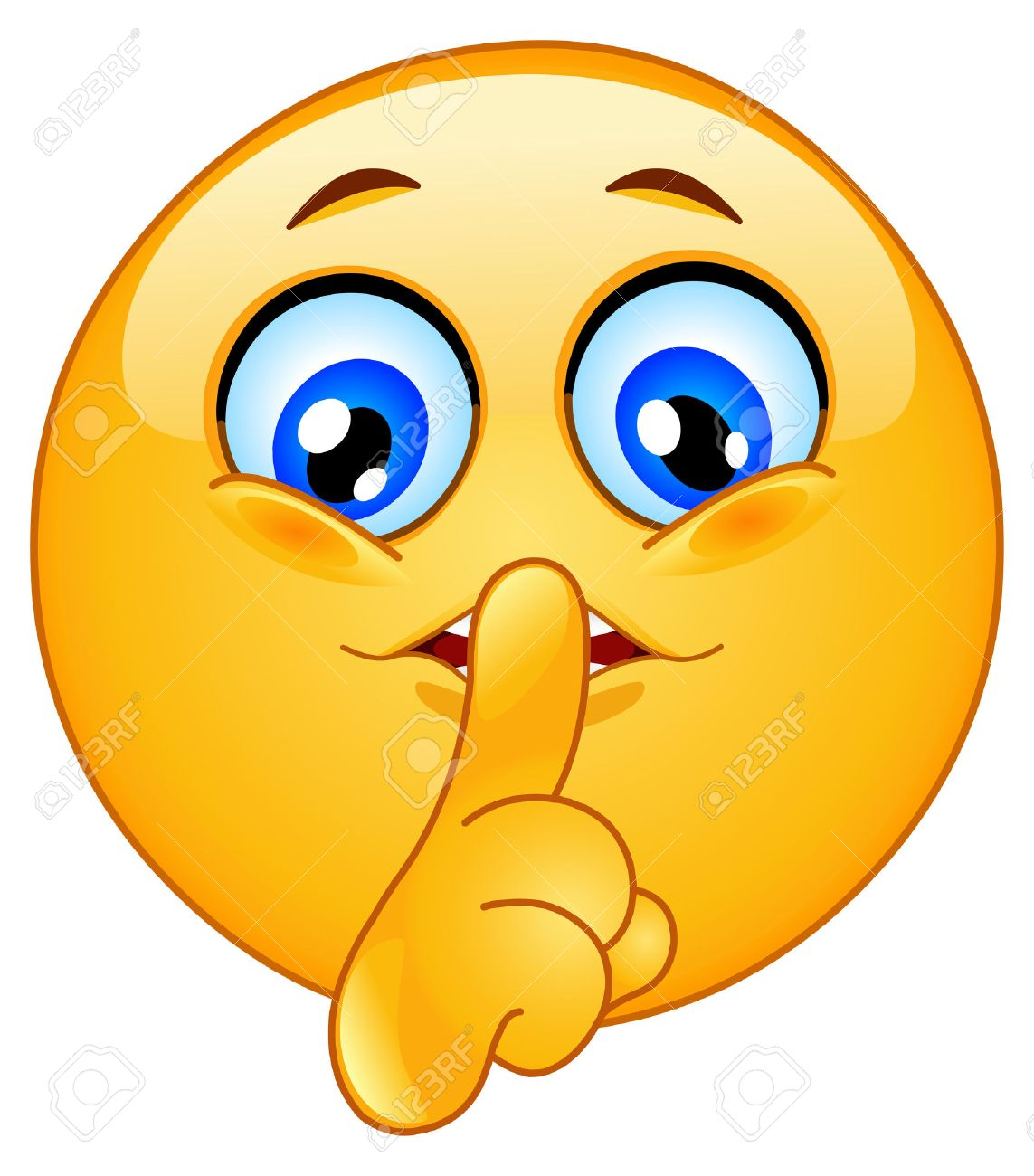 emoticon making silence sign royalty free cliparts, vectors, and stock  illustration. image 7699424.  123rf