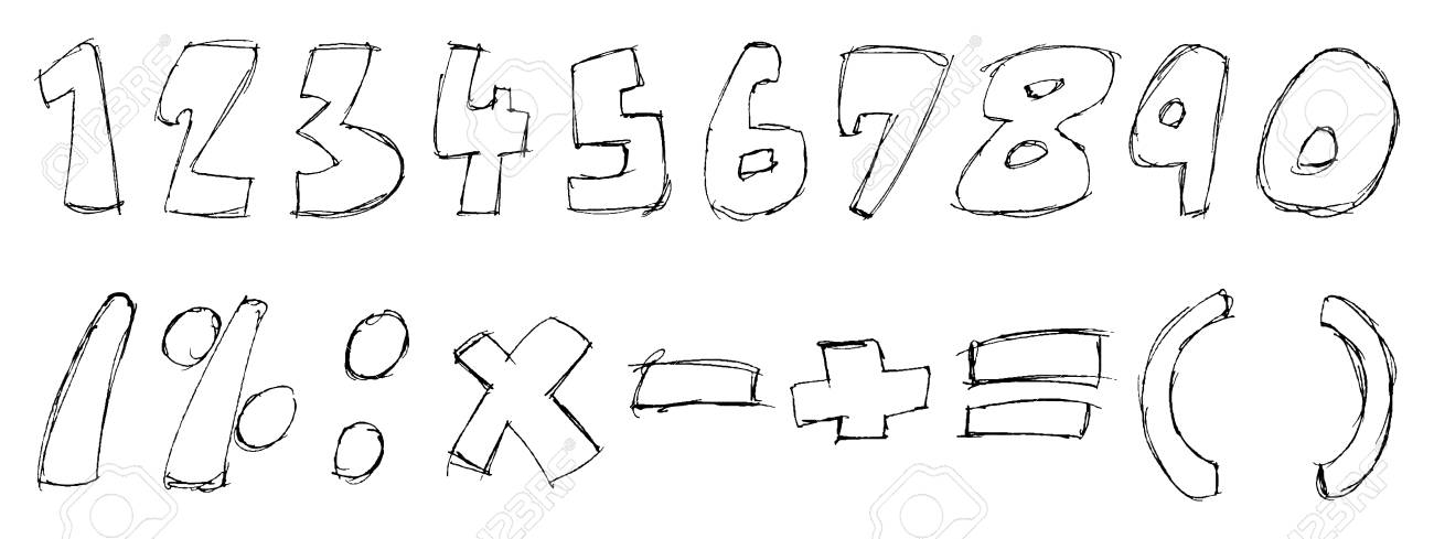 sketchy numbers Stock Vector - 7739605
