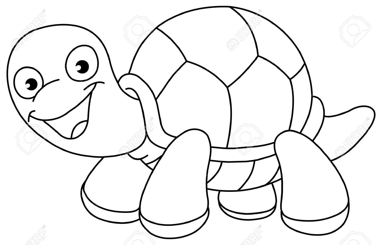 Outlined turtle  turtl...