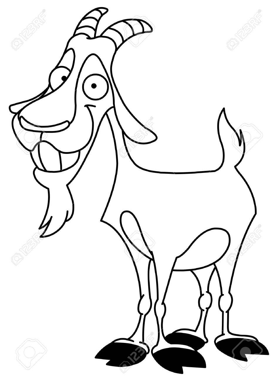 Outlined billy goat Stock Vector - 7898134