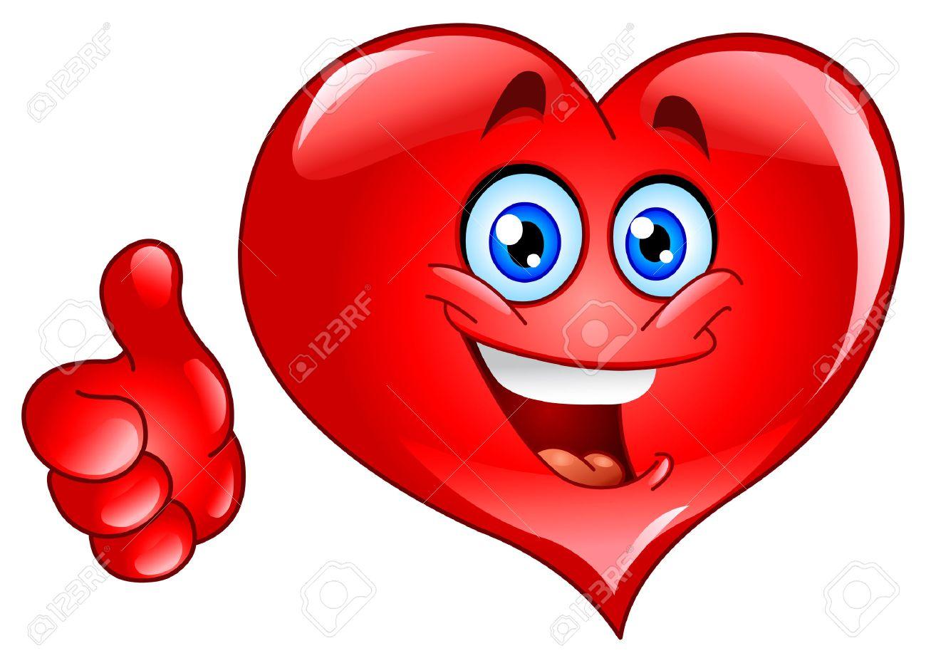 Smiley thumb up heart Stock Vector - 8127893