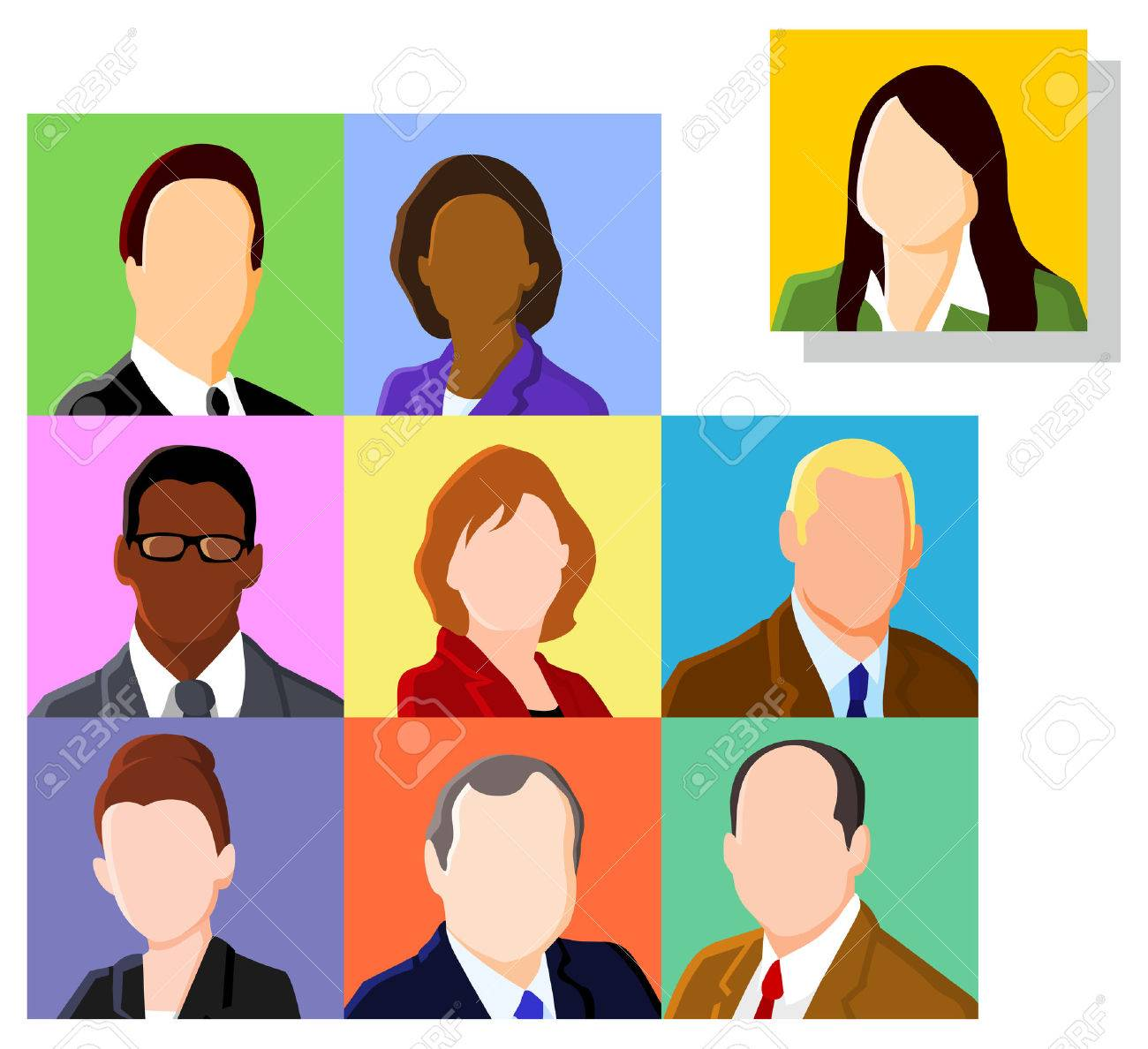 Business people avatar set Stock Vector - 8524815
