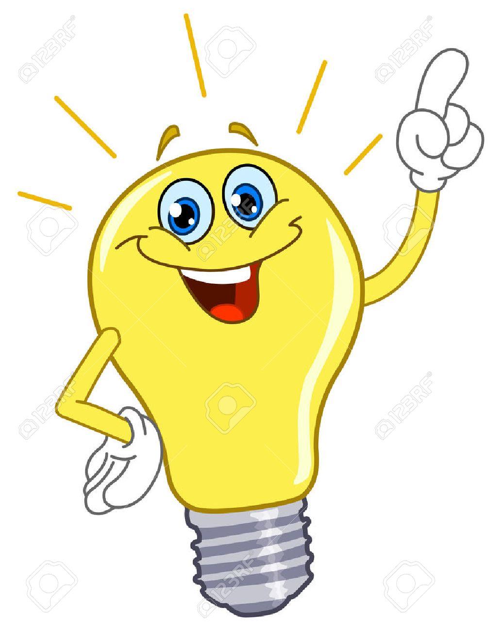 Cartoon light bulb - 8524809