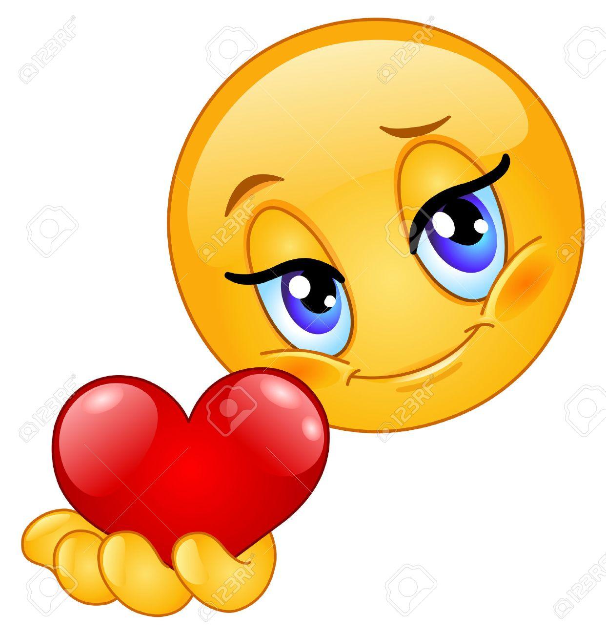 Emoticon giving heart Stock Vector - 8598201