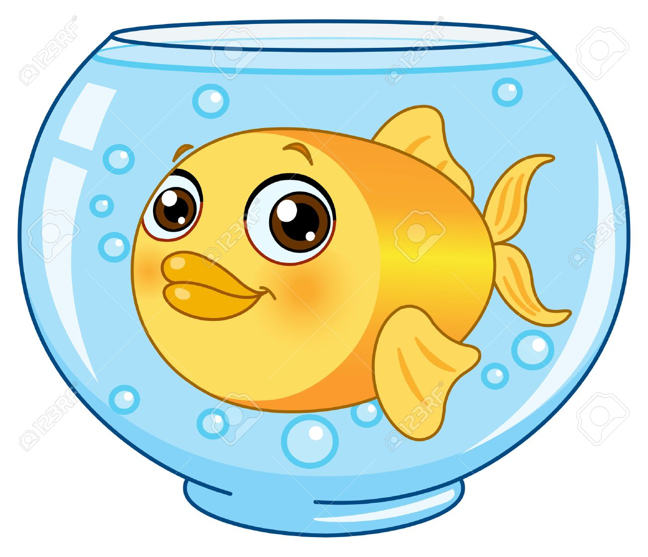 Goldfish in a bowl Stock Vector - 8640039