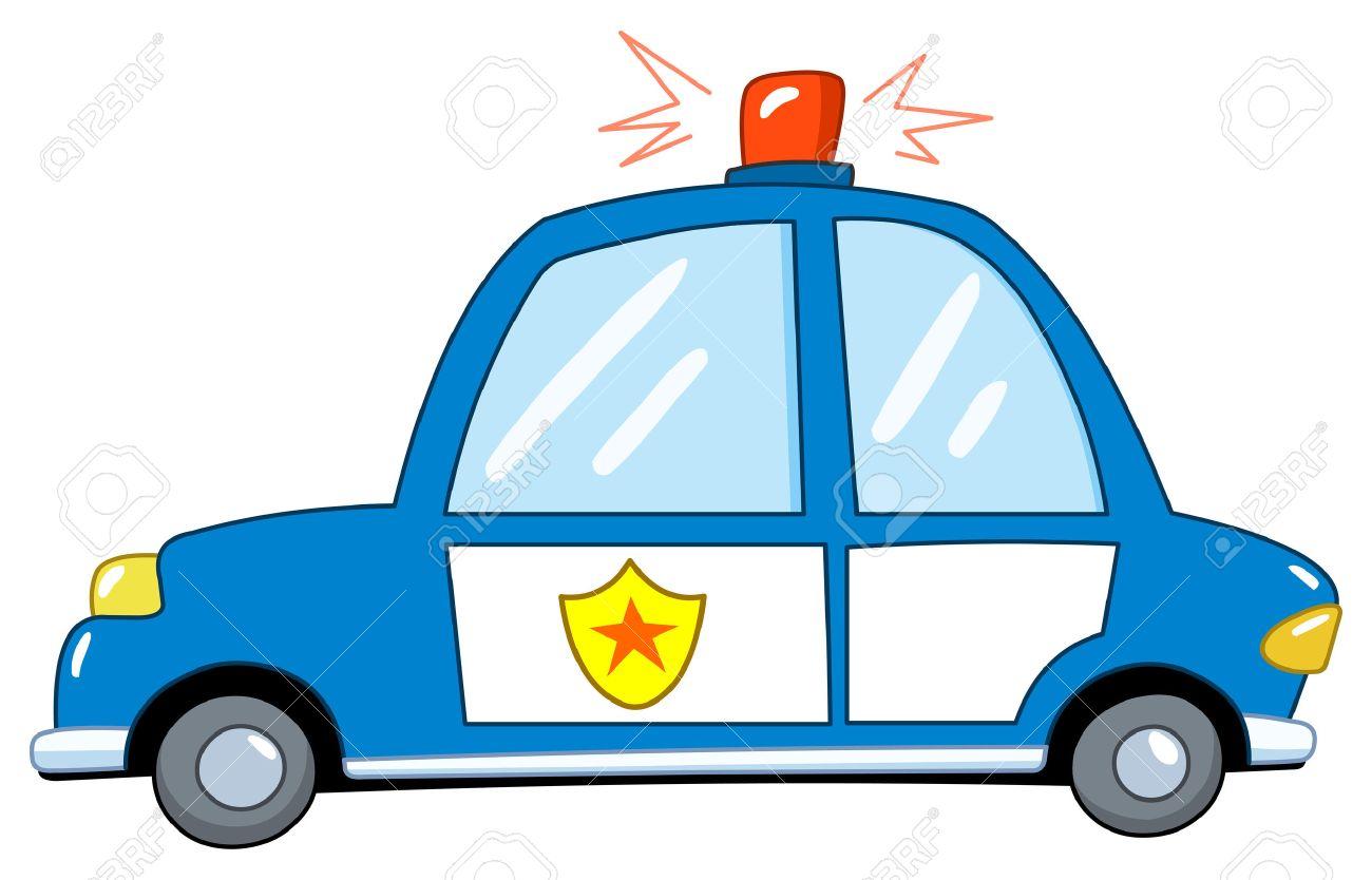 Police car cartoon Stock Vector - 8894919