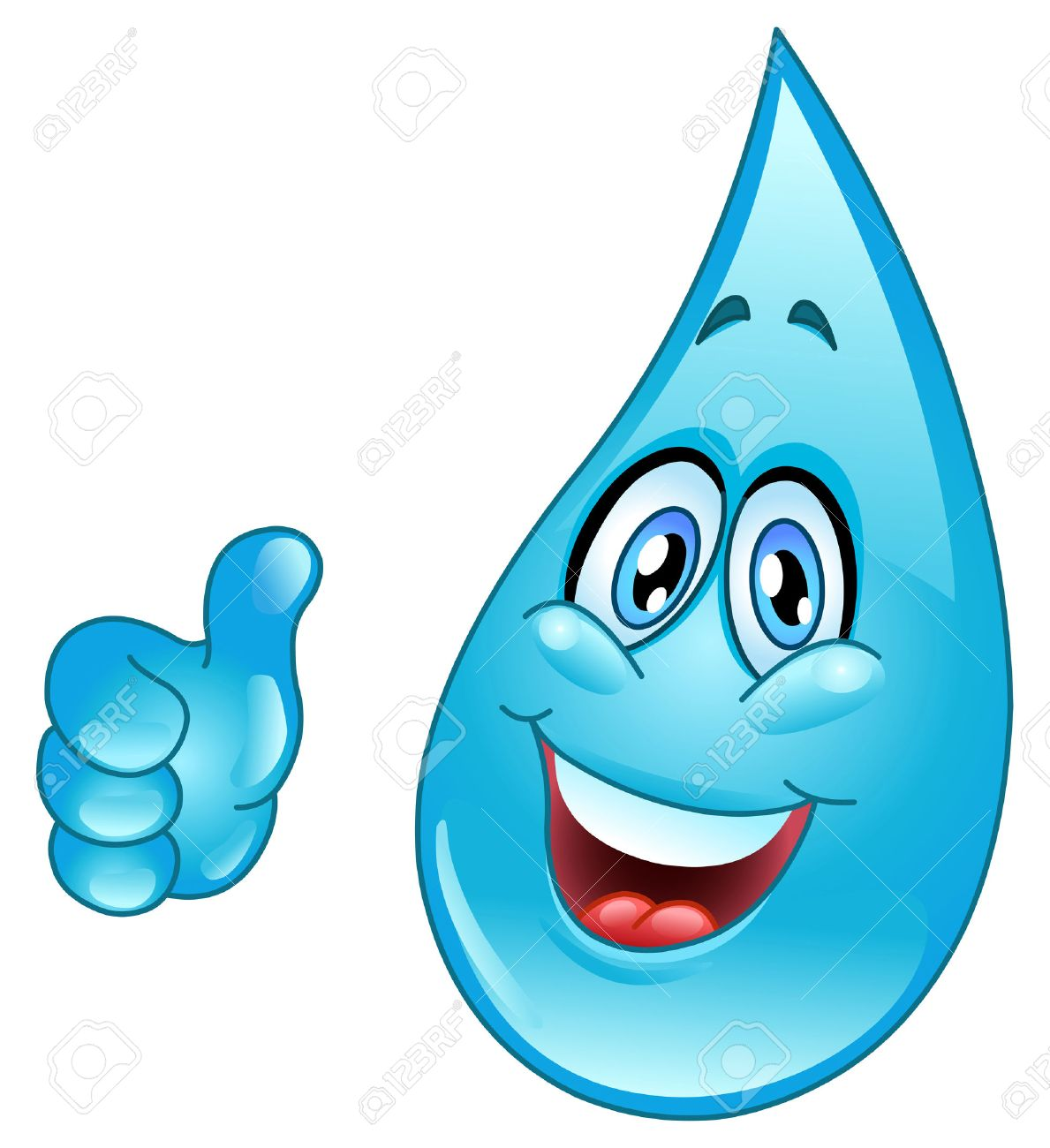 Water droplet with face clipart - ClipartFest