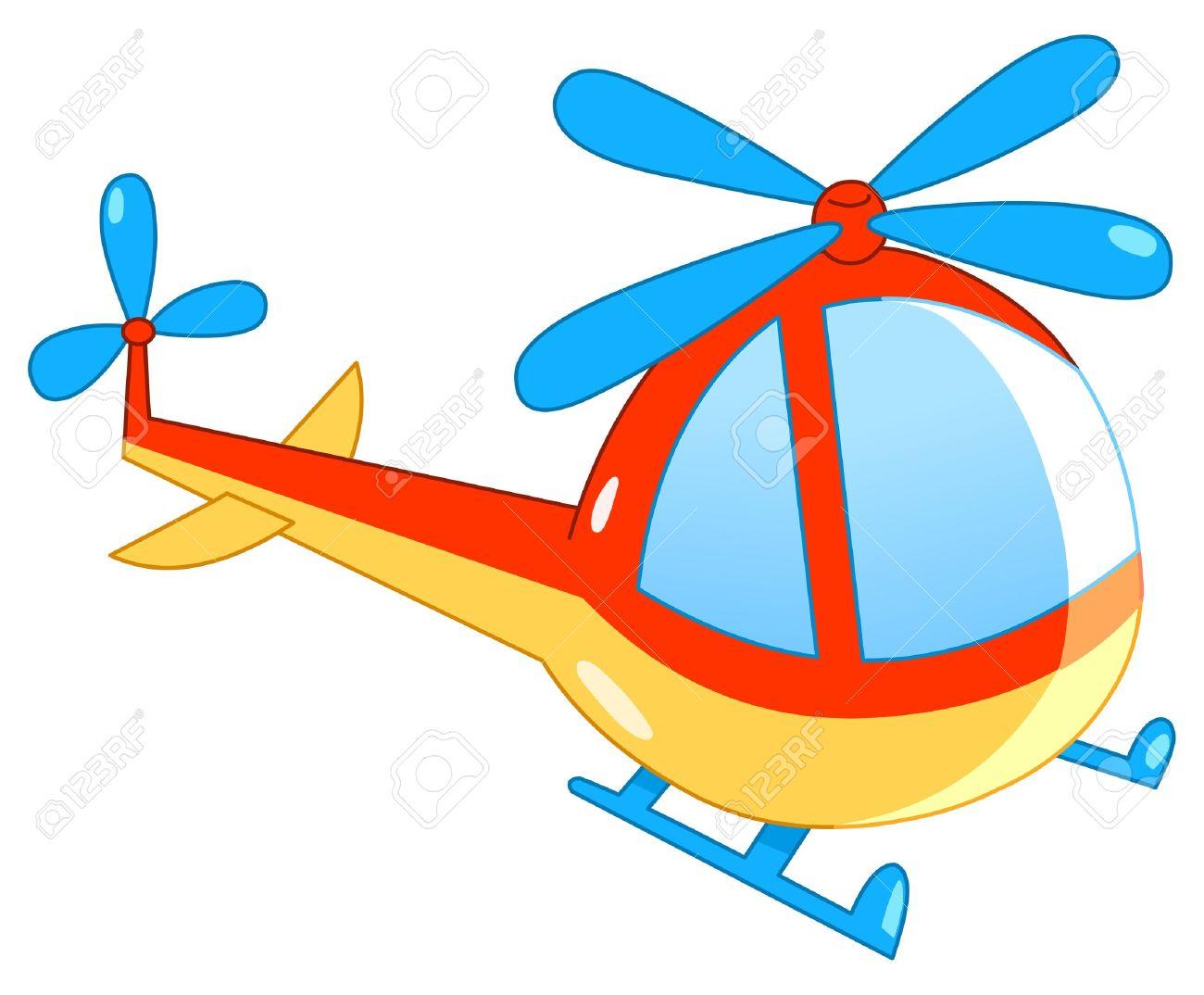 Helicopter cartoon Stock Vector - 9217660