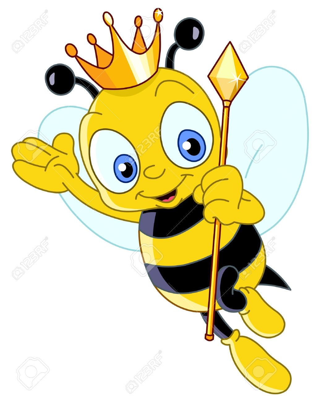 Bumble bee cartoon queen bee