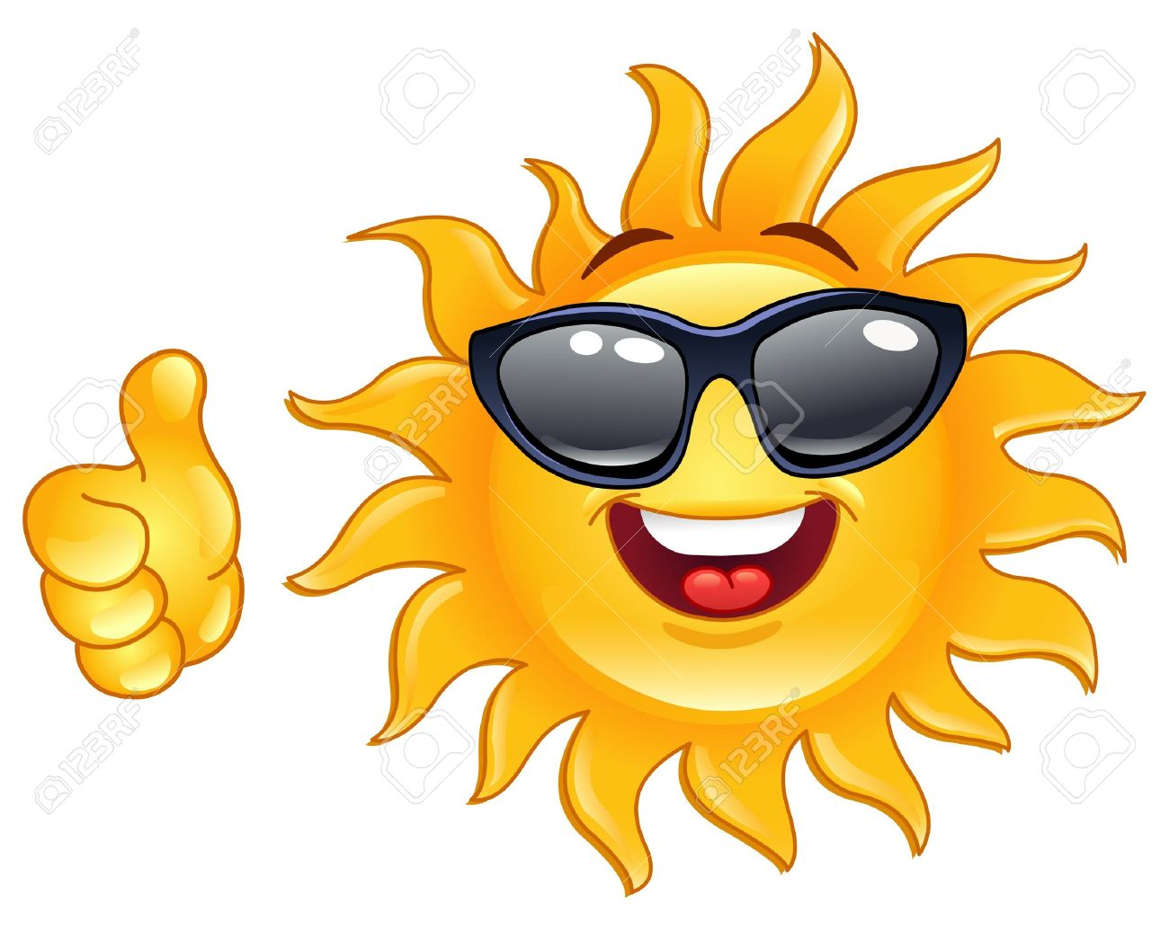 Smiling sun images - Smiling Sun Showing Thumb Up Stock Vector 9735563