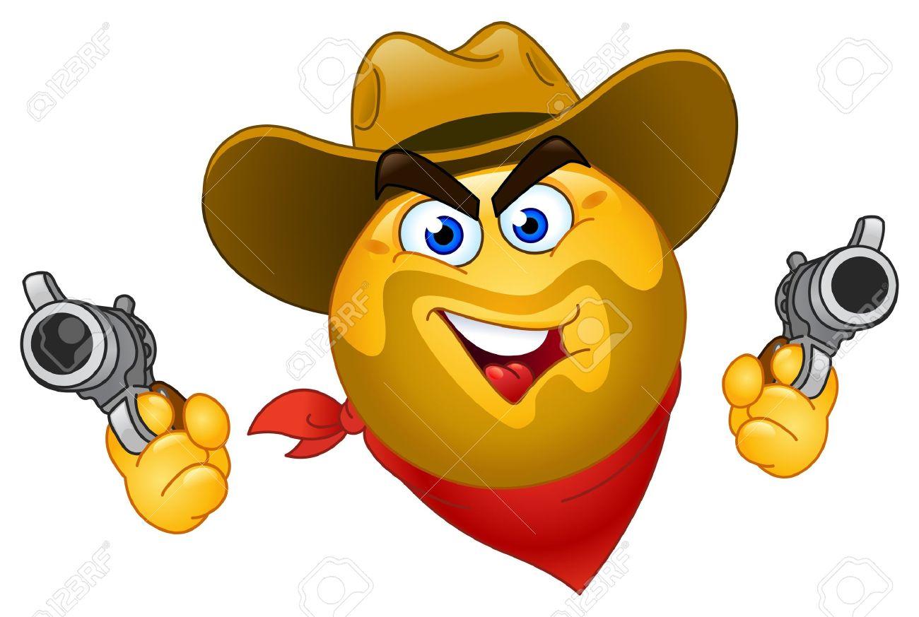 Cowboy emoticon Stock Vector - 9776461