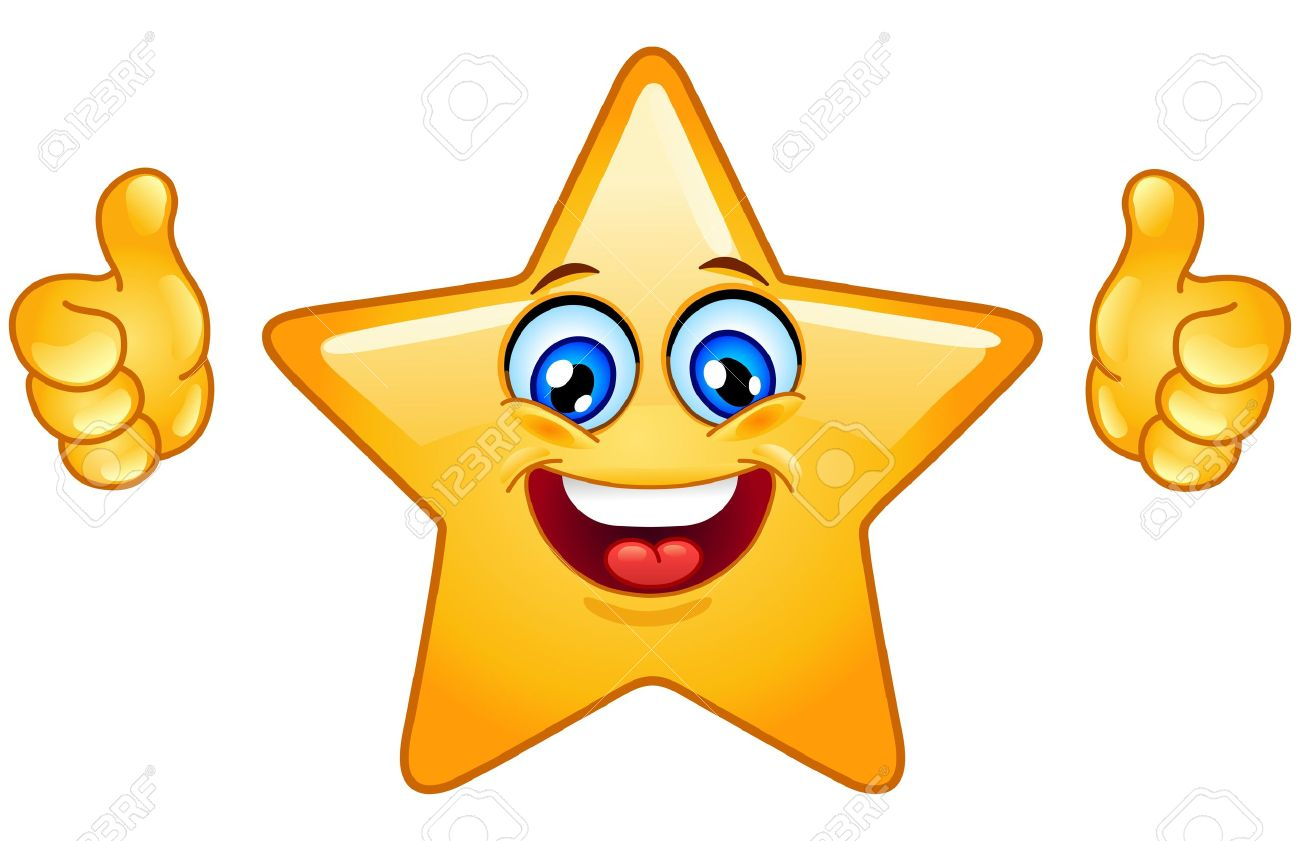 Smiling Star Showing Thumbs Up Royalty Free Cliparts, Vectors, And ...