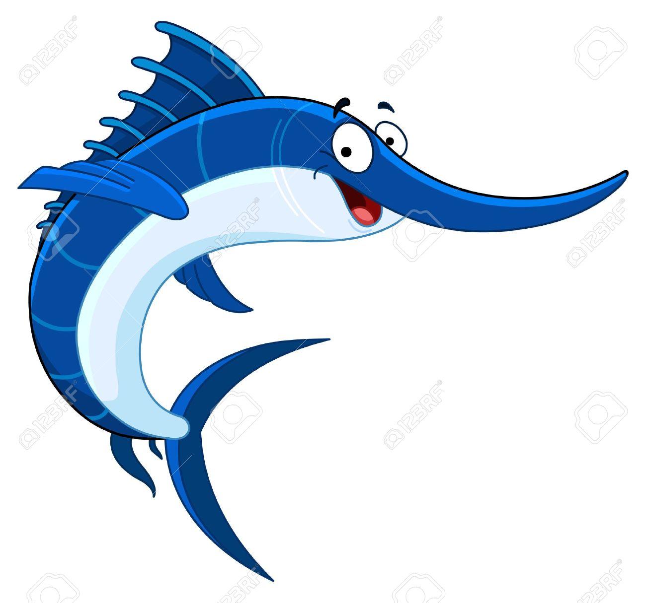 cartoon swordfish royalty free cliparts vectors and stock rh 123rf com swordfish clipart