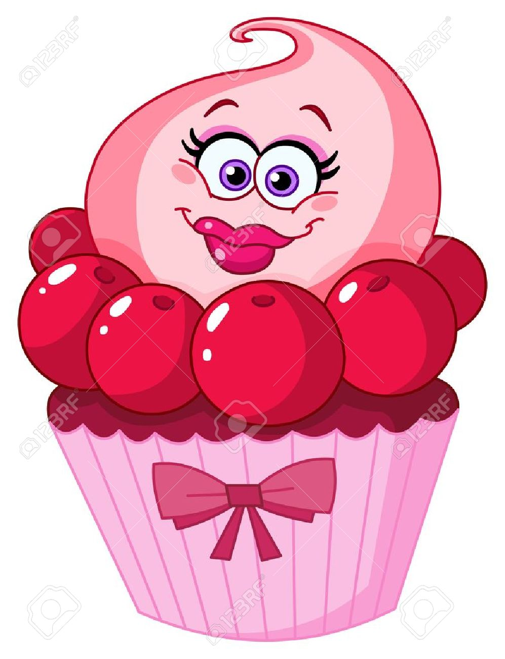 Cute Cupcake Faces Cute Cupcake Cartoon