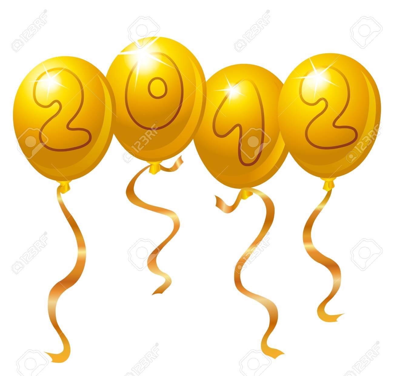 2012 New Year balloons Stock Vector - 11376107