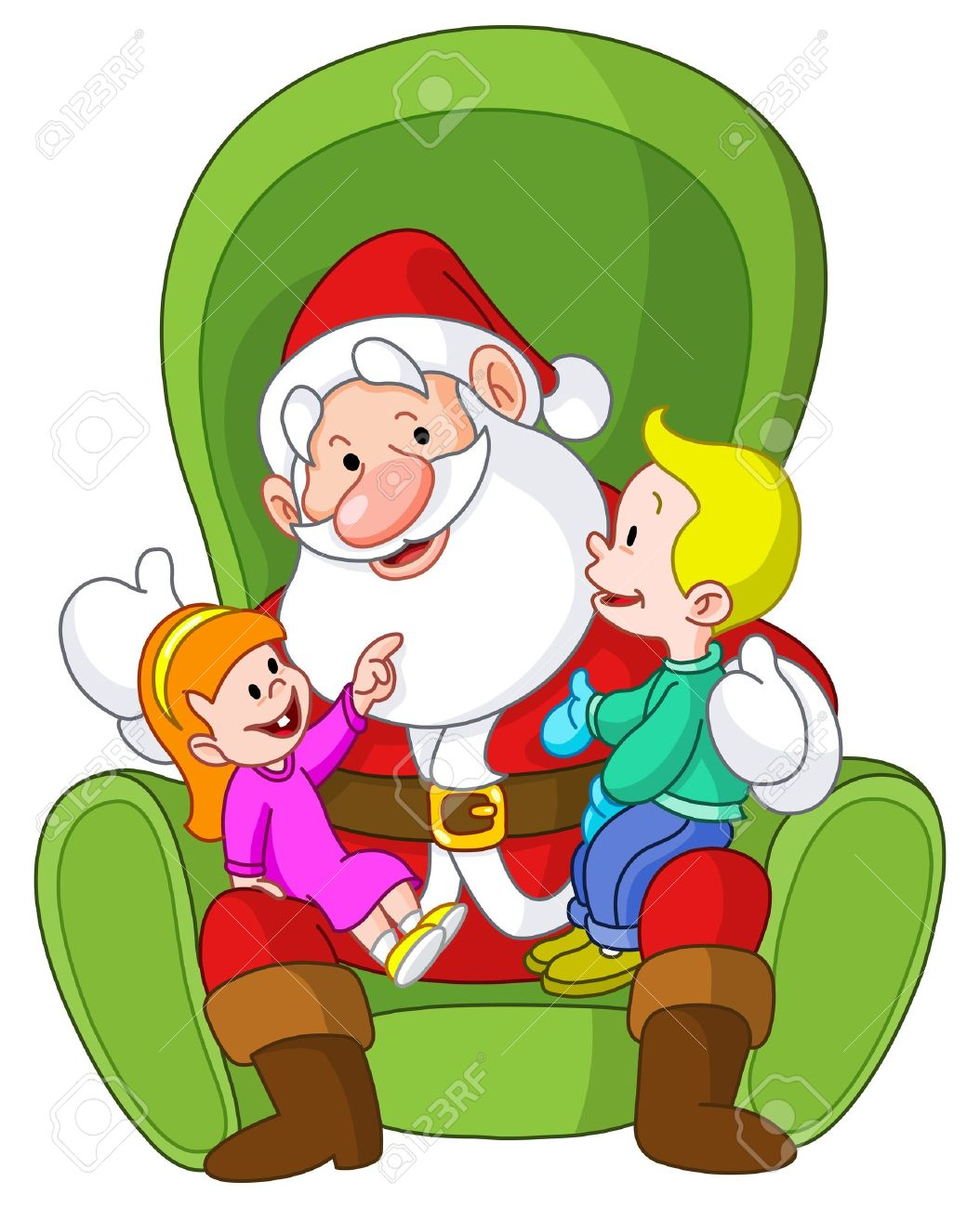 Image result for free image of child sitting on SANTA's lap