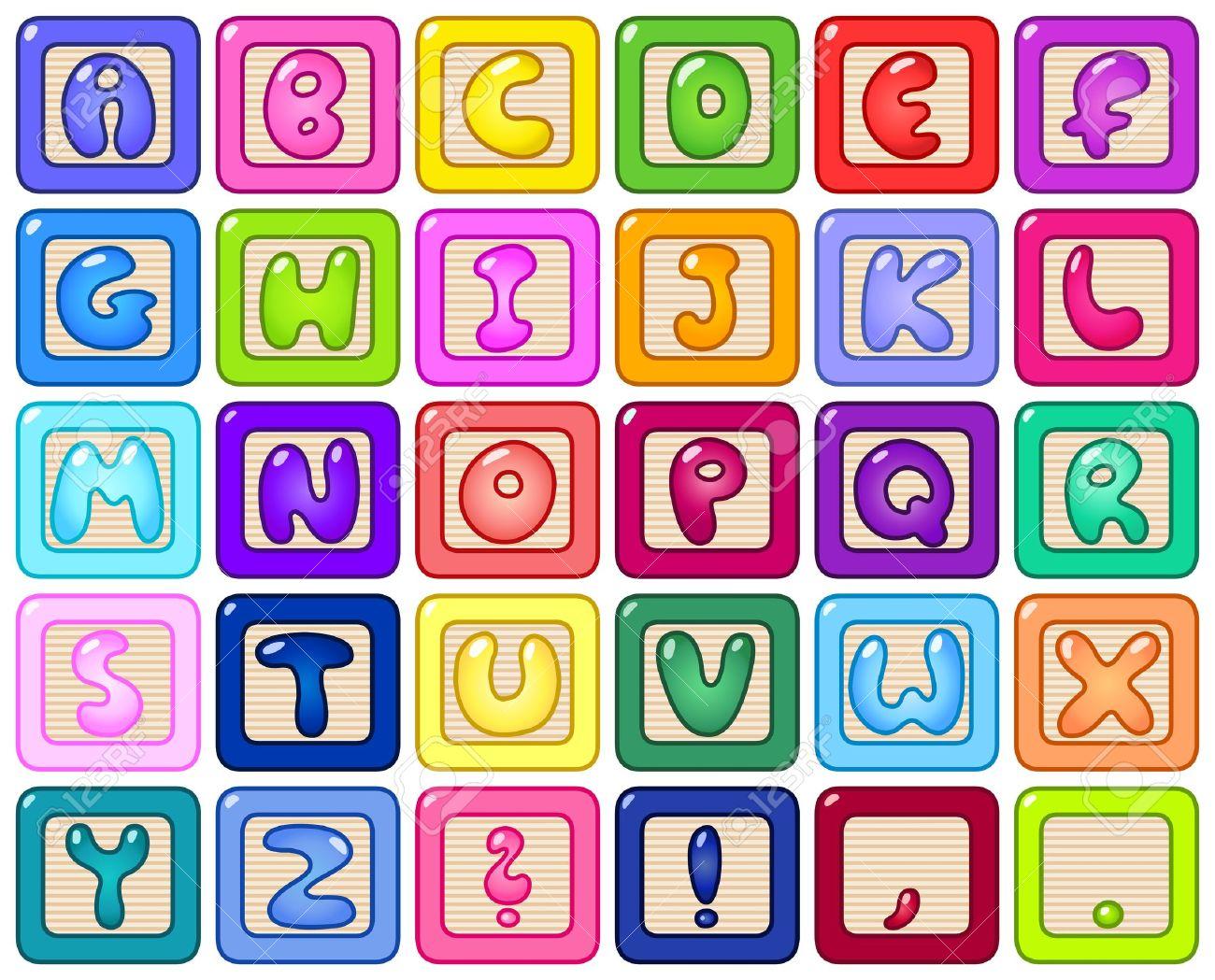 Colorful alphabet blocks - 11376118