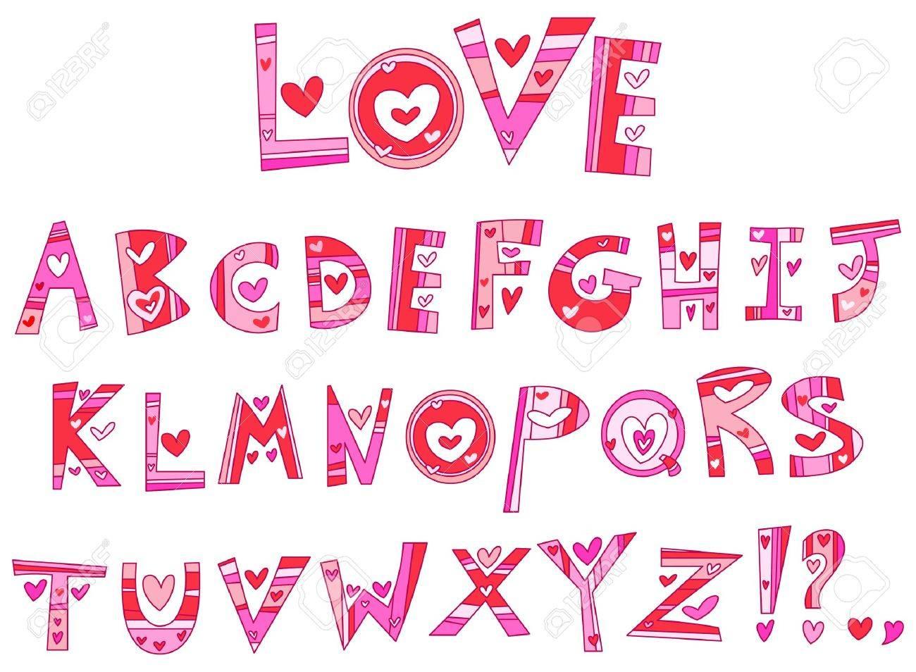 Love alphabet Stock Vector - 11934919