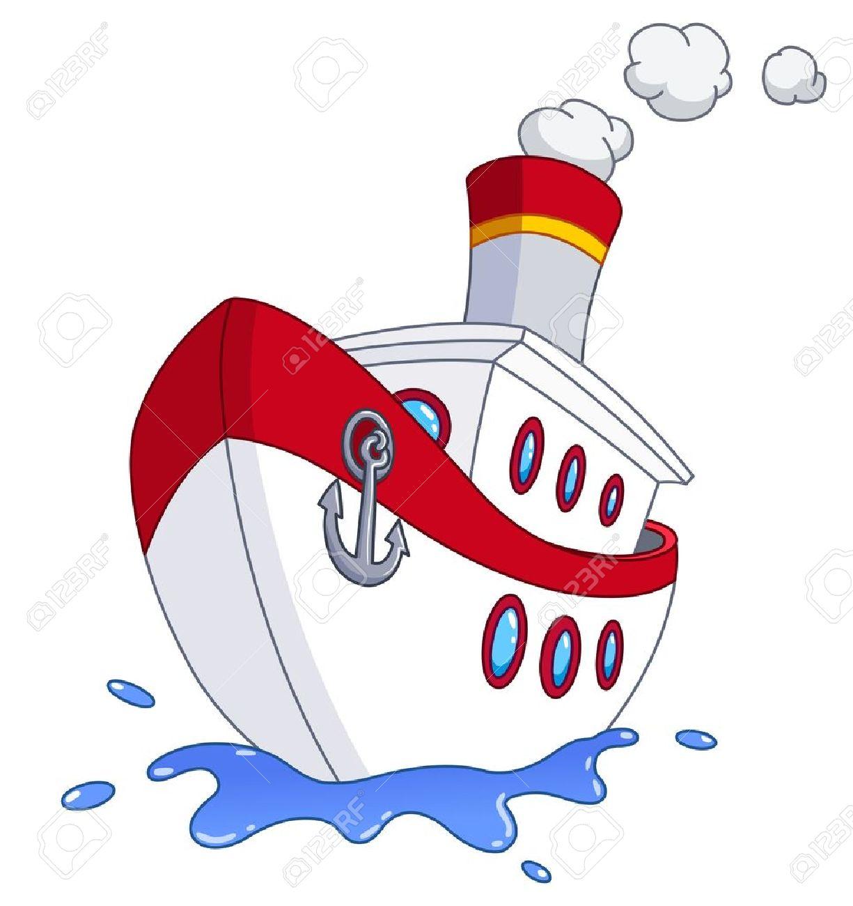 Cartoon ship Stock Vector - 14799454