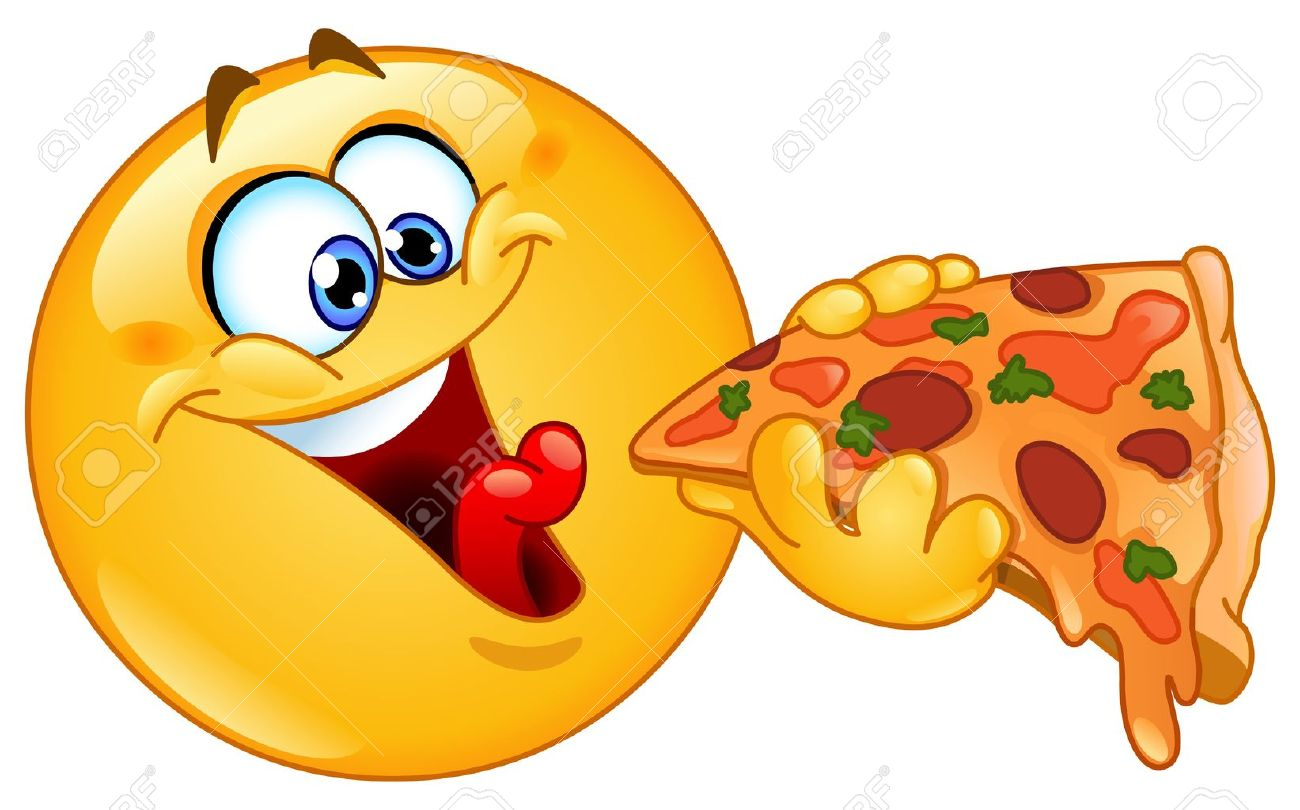 emoticon eating pizza royalty free cliparts vectors and stock rh 123rf com Crazy Smiley Face Clip Art Crazy Smiley Face Clip Art