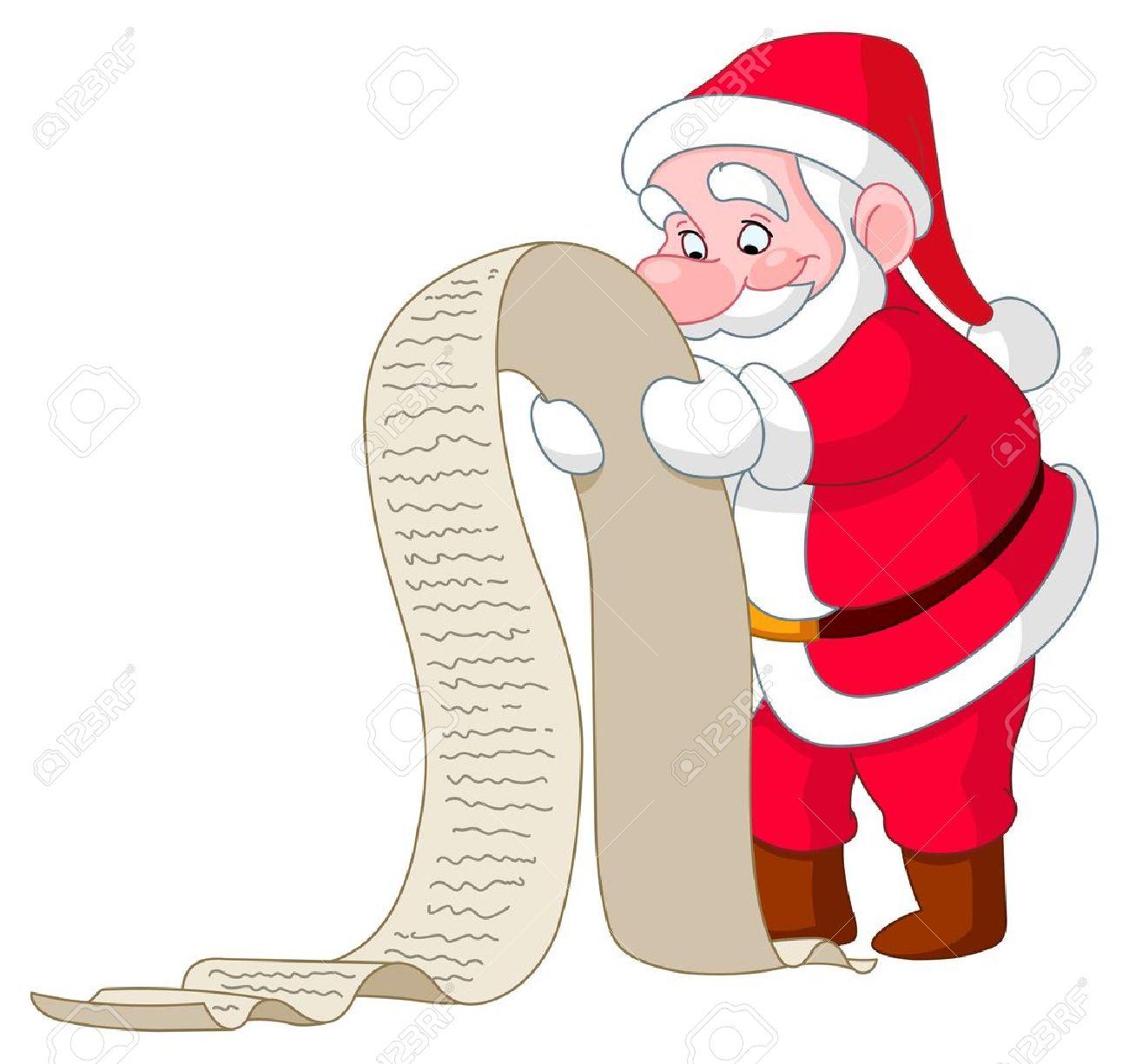 Santa Reading A Long Christmas Wish List Royalty Free Cliparts – Santa Wish List Online