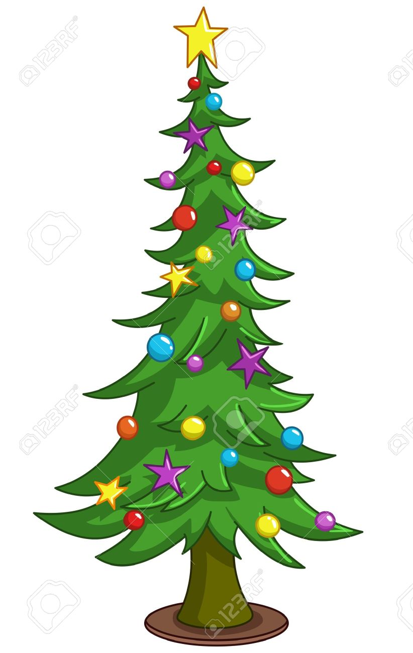 Cartoon Christmas Tree Royalty Free Cliparts, Vectors, And Stock ...